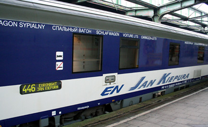 A sleeping-car on the Jan Kiepura sleeper train from Cologne to Warsaw