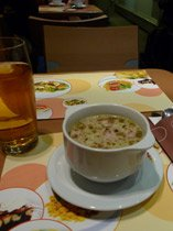 Sausage soup on the Berlin-Warszawa Express