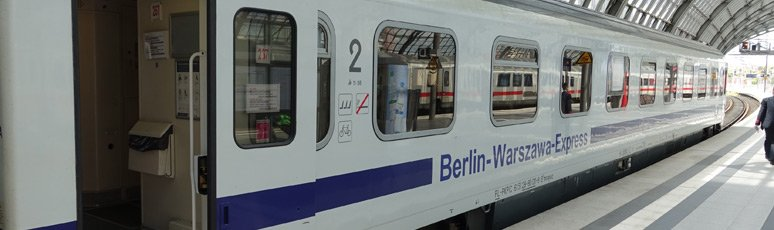 The Berlin-Warsaw Express train at Berlin Hbf