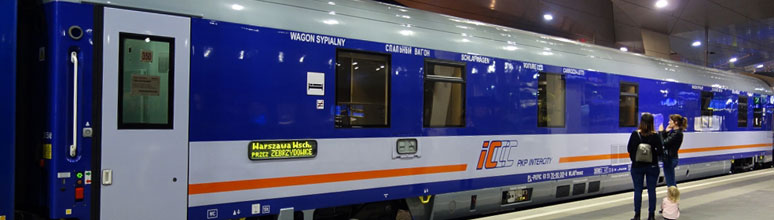 Modern Polish sleeping-car