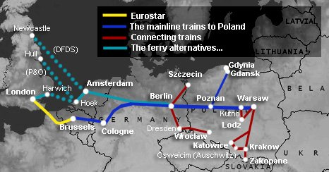 How To Travel By Train From London To Warsaw Krakow Amp Poland