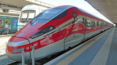 High-speed Frecciarossa trai from Rome to Naples