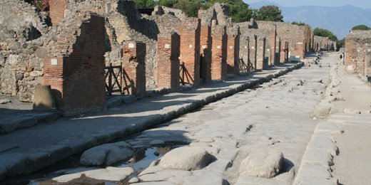 Street of shops in Pompeii