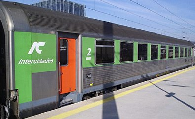 Lisbon-Faro InterCity train...