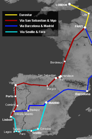 How To Travel By Train From London To Lisbon Portugal - Portugal map interactive