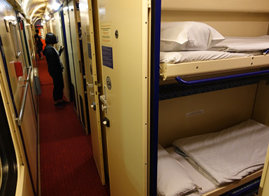 Prague to Krakow sleeper corridor