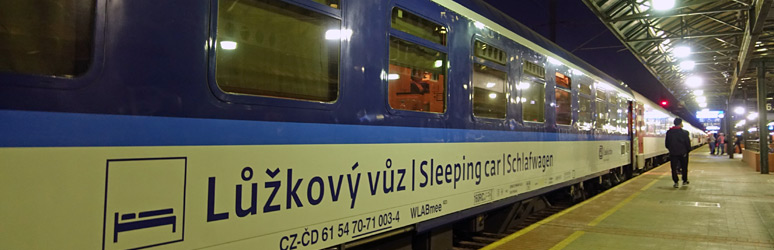 The Prague to Krakow sleeper train