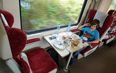 A table for two in 1st class