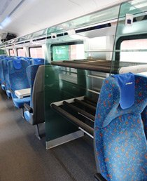 Luggage rack on Prague to Vienna railjet train
