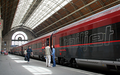 RailJet just arrived in Budapest
