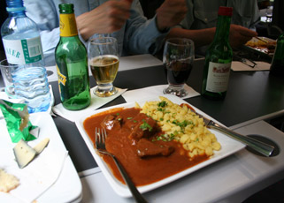 Meal & drinks are served at seat in first & premium classes