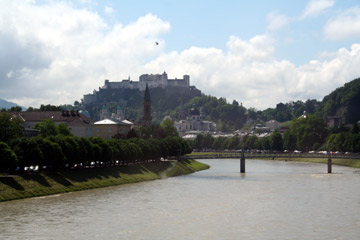 View of Salzburg from the train