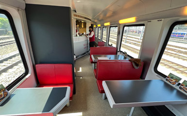 RailJet restaurant car