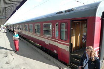 The Sofia to Bucharest train