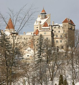 Castle Bran, Brasov, Romania.  Travel there by train!
