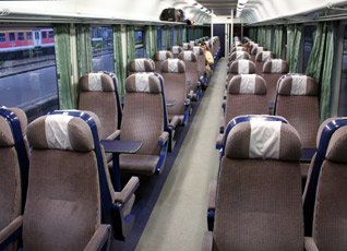2nd class Romanian InterCity coach
