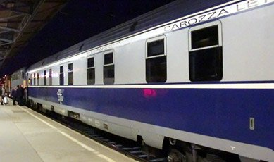 EuroNight sleeper train 'Ister' from Budapest to Bucharest