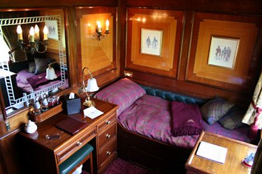 Another view of the same Royal Scotsman stateroom