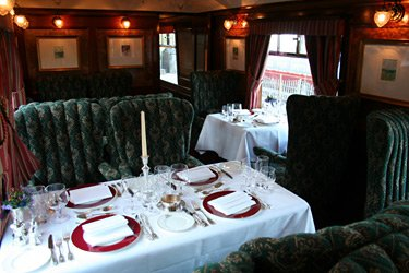 Inside the Royal Scotsman's Dining Car No.2 'Victory'