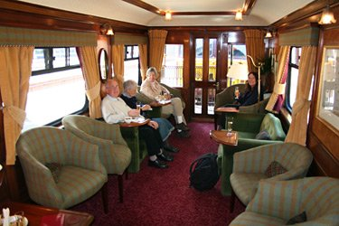 Royal Scotsman's lounge-observation car