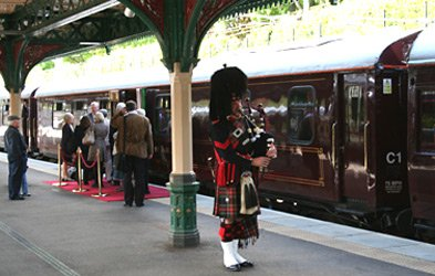 Boarding the Royal Scotsman train...