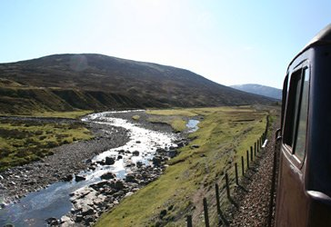 River next to the Highland Line