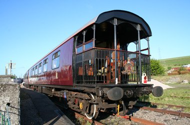 The Royal Scotsman's open air-viewing platform