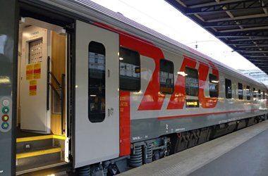 One of Russian Railways new international sleeping-cars