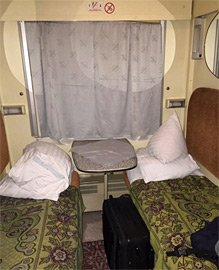 2-bed sleeper on night train from Kiev to Moscow.
