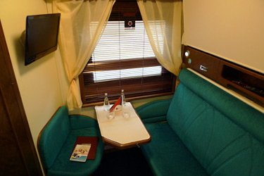 VIP deluxe sleeper on the Paris-Moscow train