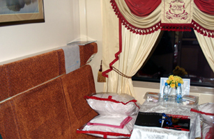 A 2-berth first class sleeper on the Krasnya Strela train from St Petersburg to Moscow