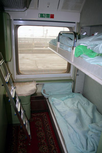 A 2-berth sleeper on the Cologne-Moscow train