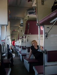 Russian trains: 'Platskartny' class sleepers