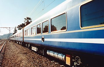 South Africa's Blue Train from Cape Town to Pretoria