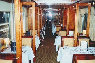 Blue Train restaurant car