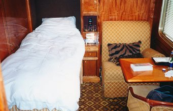 A Blue Train deluxe suite