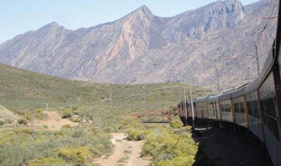 Shosholoza Meyl Tourist class train on its way to Cape Town