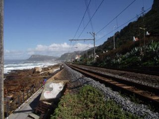 Railway along the coast from Cape Town to Simon's Town