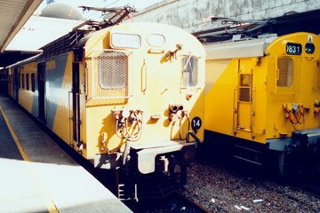 Metro trains at Cape Town