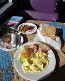 A cooked breakfast on the train!