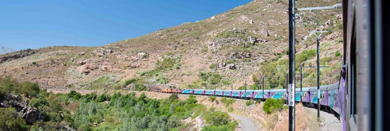 Shosholoza Meyl tourist class train from Cape Town to Johannesburg, on its way across South Africa!