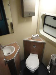 Sleeper toilet