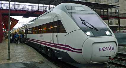 San Sebastian to Barcelona train about to leave