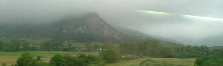 Scenery between San Sebastian & Barcelona