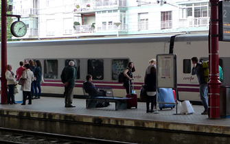 Trainhotel to Lisbon at San Sebastian