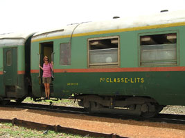 Dakar-Bamako train:  1st class couchette car