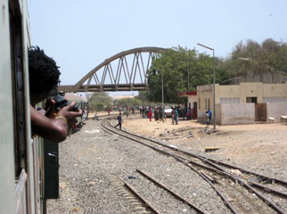 The train from Senegal to Mali about to leave the Gare de Hann, just outside Dakar.