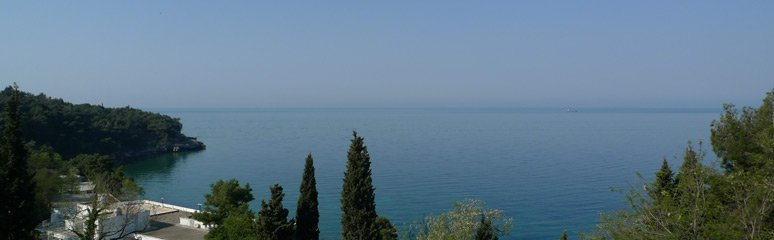 The Adriatic, seen from the train leaving Bar