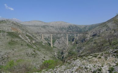 The Mala Rijeka viaduct
