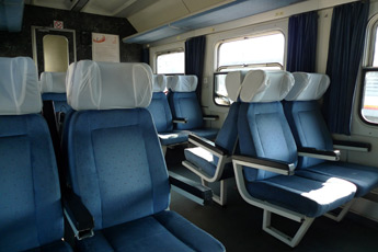 Seats on the Belgrade to Bar train